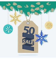 Christmas sale tag or label vector
