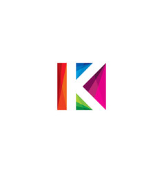 color letter k logo icon design vector image