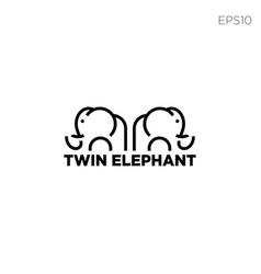 elephant logo ine icon or symbol vector image