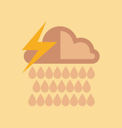 Flat icon on stylish background thunderstorm rain vector