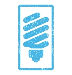 Fluorescent Bulb Icon Rubber Stamp vector
