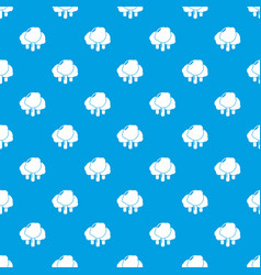 Forest pattern seamless blue vector