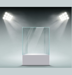 Glass showcase for sales vector