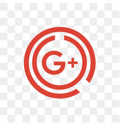 google plus social media icon design template vector image