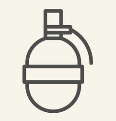 grenade line icon explode vector image