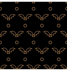 Halloween different linear seamless patterns vector image