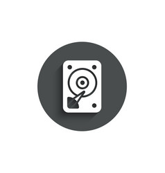 hdd icon hard disk storage sign vector image