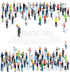 isometric people crowd vector image