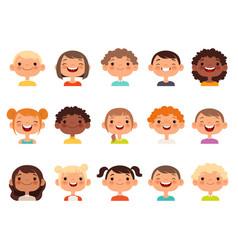 kids faces child expression faces little boys vector image