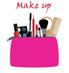 Make up bag vector