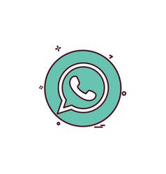 Media network social whatsapp icon design vector