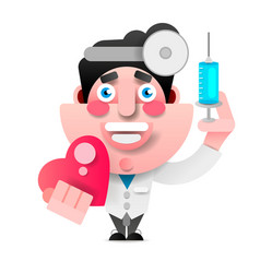 medical icon doctor doctor with stethoscope vector image