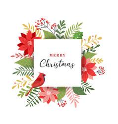 Merry christmas greeting card in elegant modern vector
