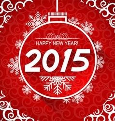 New Year card with snoflakes of Marry Christ vector