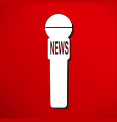 news microphone icon vector image