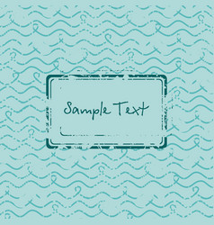 Offer stamp sale badge on a sea wave hand-drawn vector