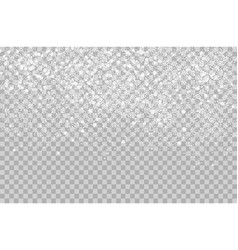 Overlay Falling shining snow isolated on the vector image