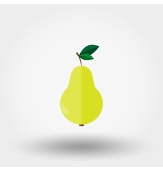 Pear Flat icon vector image