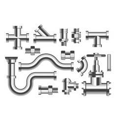 plumbing pipes and tubes building materials vector image