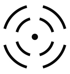 Point radar icon simple style vector