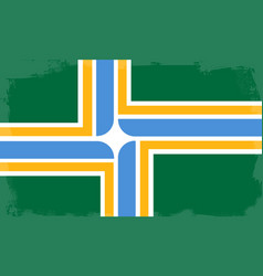 Portland city flag vector