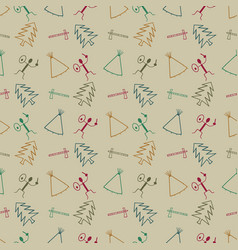 primitive symbol pattern background vector image