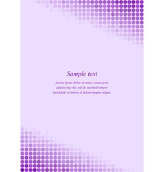 Purple page corner design template vector