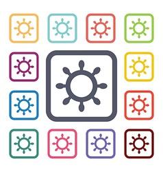 sea wheel flat icons set vector image