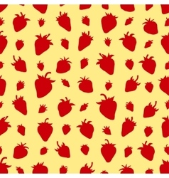 Seamless pattern Set red strawberries vector image