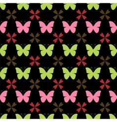 seamless pattern with butterflies Stylish vector image