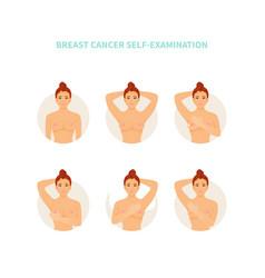 Self-examination breast cancer vector