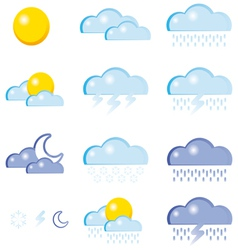 set a weather icon vector image