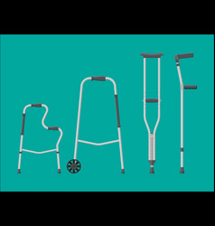 set of mobility aids vector image
