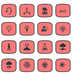 Set of simple creativity icons vector