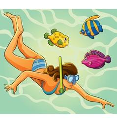 Sexy Diver vector image