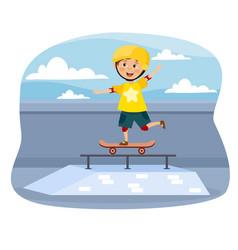 Skateboard concept vector