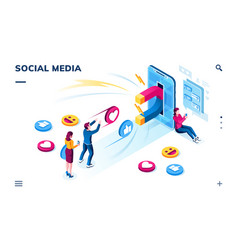 social media users followers sharing content vector image