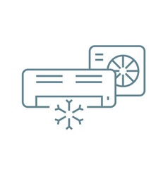 split system linear icon concept split system vector image