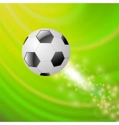 Sport Football Icon on Green Wave Background vector image