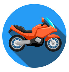 sport motorcycle logo vector image