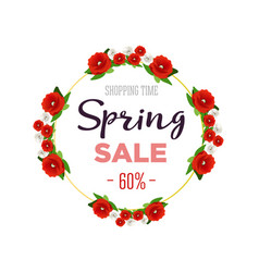 Spring sale background banner with colorful vector