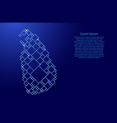 Sri lanka map from blue pattern from a grid of vector