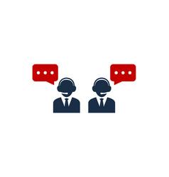talk call center logo icon design vector image