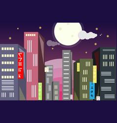 tokyo landscape vector image