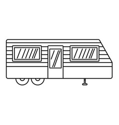 trailer house icon outline style vector image