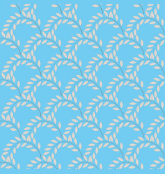 twig on blue background vector image