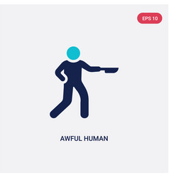 Two color awful human icon from feelings concept vector