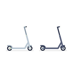 two electric scooter vector image