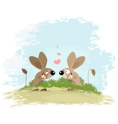 two jerboa love vector image