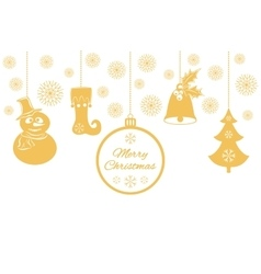 Various Christmas pendants such as a bell with vector